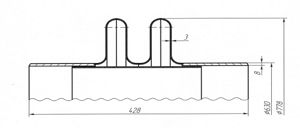 Компенсатор линзовый 0,6 (6,0)-900-1 14ОСТ 34-10-570-93